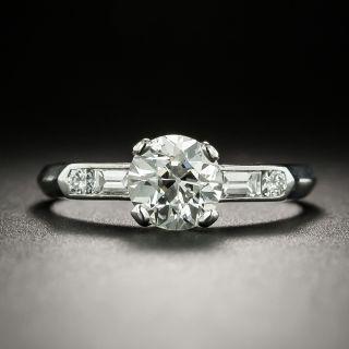 Mid-Century 1.01 Carat Diamond Ring by Hartzberg - GIA J VS2 - 2