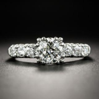 Mid-Century 1.01 Carat Platinum Diamond Engagement Ring - GIA K VS1 - 1