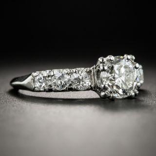 Mid-Century 1.01 Carat Platinum Diamond Engagement Ring - GIA K VS1