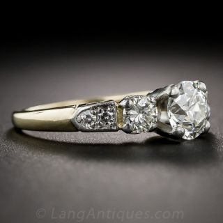 Mid Century 1.03 Carat Engagement Ring - GIA I VS1