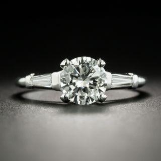 Mid-Century 1.07 Carat Diamond Engagement Ring - GIA I VVS2 - 2