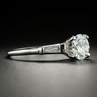 Mid-Century 1.07 Carat Diamond Engagement Ring - GIA I VVS2