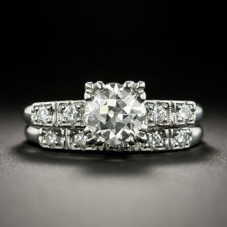Mid-Century 1.08 Carat Diamond Wedding Set by White Rose - GIA J VS2 - 1