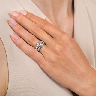 Mid-Century 1.08 Carat Diamond Wedding Set by White Rose - GIA J VS2