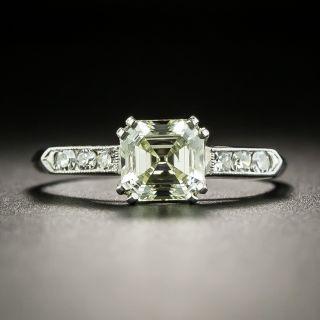 Mid-Century 1.10 Carat Asscher Cut Diamond Engagement Ring - GIA - 2