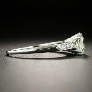Mid-Century 1.10 Carat Asscher Cut Diamond Engagement Ring - GIA