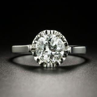 Mid-Century 1.13 Carat Diamond Engagement Ring - GIA I IF - 2