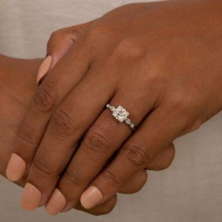Mid-Century 1.13 Carat Diamond Engagement Ring - GIA I SI1