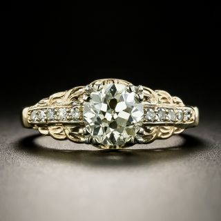Mid-Century 1.13 Carat Diamond Engagement Ring - GIA N VS2 - 2
