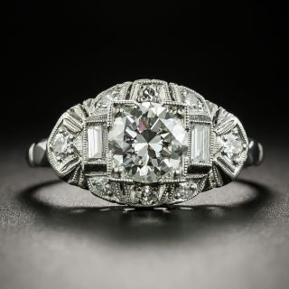 Mid-Century 1.15 Carat Diamond Ring - GIA J VVS2 - 2