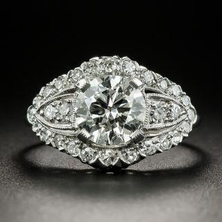 Mid-Century 1.16 Carat Diamond Engagement Ring - GIA J SI2 - 2