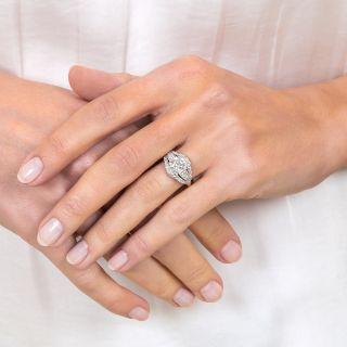 Mid-Century 1.16 Carat Diamond Engagement Ring - GIA J SI2