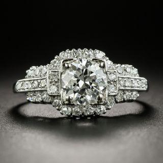 Mid-Century 1.17 Carat Diamond Engagement Ring - GIA G VVS1 - 2