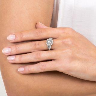 Mid-Century 1.17 Carat Diamond Engagement Ring - GIA G VVS1