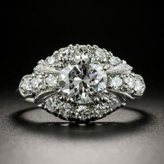 Mid-Century 1.34 Carat Diamond Engagement Ring - GIA F SI1 - 2