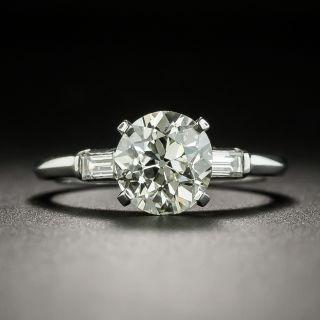 Mid Century 1.51 Carat Diamond Engagement Ring - GIA - 3