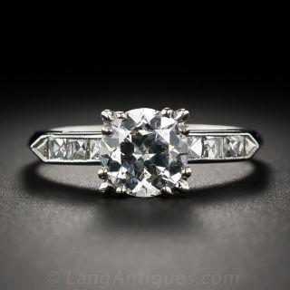 Mid-Century 1.56 Carat European-Cut Diamond Engagement Ring - GIA - 1