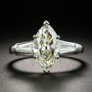 Mid-Century 1.58 Carat Marquise-Cut Diamond Engagement Ring - GIA - 2