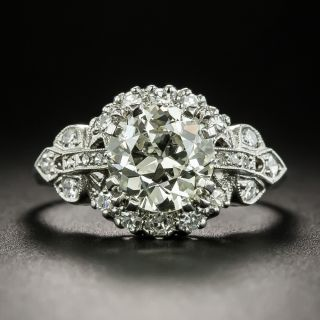 Mid-Century 1.59 Carat Diamond Engagement Ring - GIA - 2