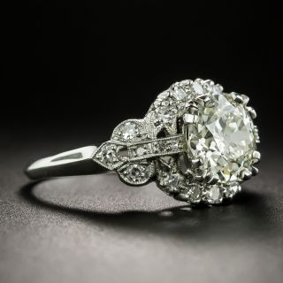 Mid-Century 1.59 Carat Diamond Engagement Ring - GIA