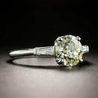 Mid-Century 1.70 Carat Diamond Engagement Ring - GIA
