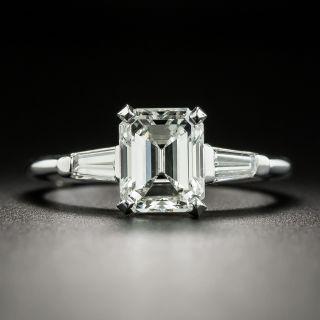 Mid-Century 1.77 Carat Emerald-Cut Diamond Ring - GIA G SI1 - 2