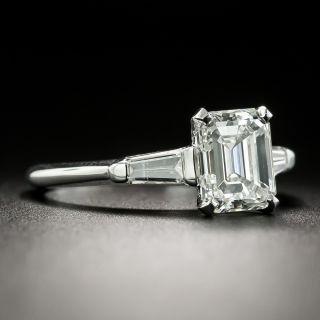 Mid-Century 1.77 Carat Emerald-Cut Diamond Ring - GIA G SI1