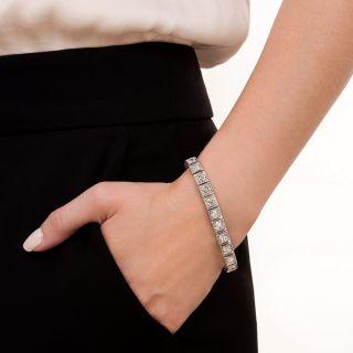 Mid-Century 11.00 Carat Diamond Line Bracelet by Walser, Wald & Cia