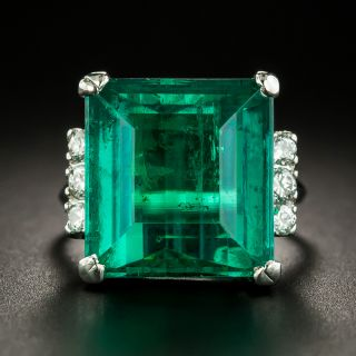 12.90 Ct Colombian Emerald and Diamond Ring by C.J. Auger - 2