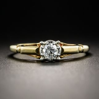 Mid-Century .15 Carat Diamond Solitaire Engagement Ring by Jabel - 1