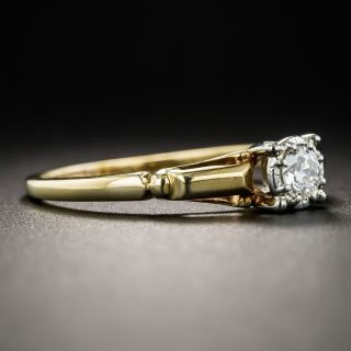 Mid-Century .15 Carat Diamond Solitaire Engagement Ring by Jabel