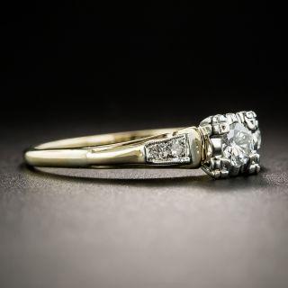 Mid-Century .17 Carat Diamond Two-Tone Engagement Ring