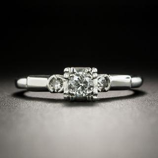 Mid-Century .18 Carat Diamond Engagement Ring - 2