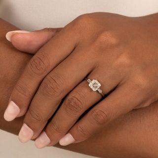 Mid-Century 2.01 Carat Asscher-Cut Diamond Engagement Ring - GIA G SI2