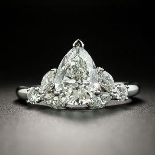Mid-Century 2.02 Carat Pear-Cut Diamond Engagement Ring - GIA I SI1 - 2
