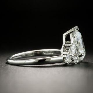 Mid-Century 2.02 Carat Pear-Cut Diamond Engagement Ring - GIA I SI1