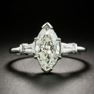 Mid-Century 2.20 Carat Marquise Diamond Engagement Ring - GIA L SI1 - 0