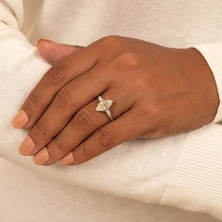 Mid-Century 2.20 Carat Marquise Diamond Engagement Ring - GIA L SI1