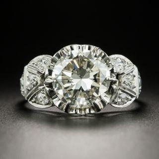 Mid-Century 2.40 Carat Diamond Engagement Ring - GIA N VVS2 - 2