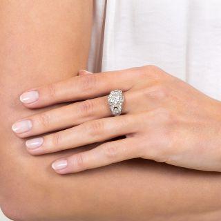 Mid-Century 2.40 Carat Diamond Engagement Ring - GIA