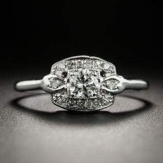 Mid-Century .23 Carat Diamond Engagement Ring - 1