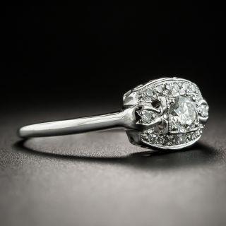 Mid-Century .23 Carat Diamond Engagement Ring