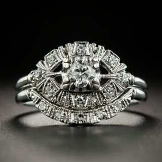 Mid-Century .27 Carat Diamond Wedding Set - 2