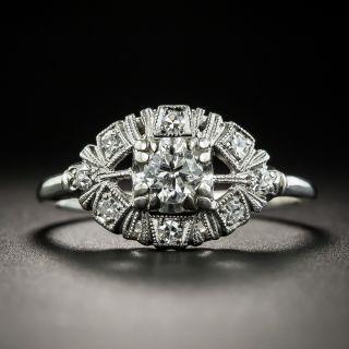 Mid-Century .27 Carat Diamond Wedding Set