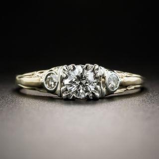 Mid Century .30 Carat Diamond Engagement Ring - 1