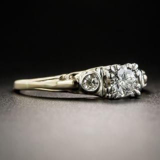 Mid Century .30 Carat Diamond Engagement Ring