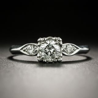 Mid-Century .40 Carat Diamond Engagement Ring - 1
