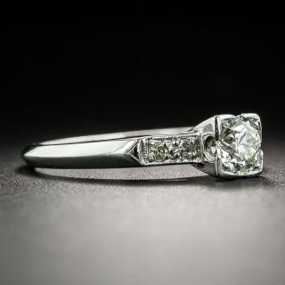 Mid-Century .40 Carat Diamond Engagement Ring