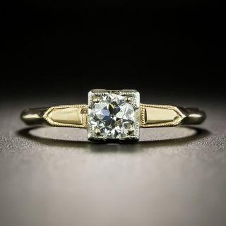Mid-Century .40 Carat Diamond Solitaire Engagement Ring - 2