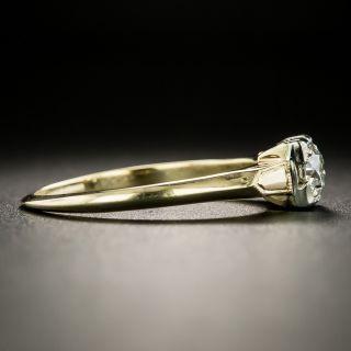 Mid-Century .40 Carat Diamond Solitaire Engagement Ring